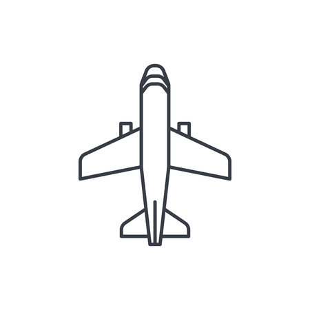 airplane, boeing plane, travel thin line icon. Linear vector illustration. Pictogram isolated on white background