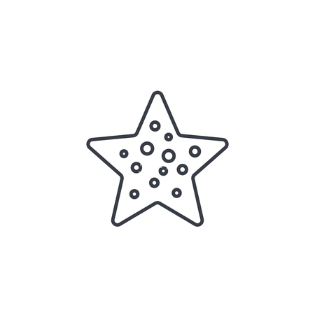 Starfish thin line icon. Linear vector illustration. Pictogram isolated on white background
