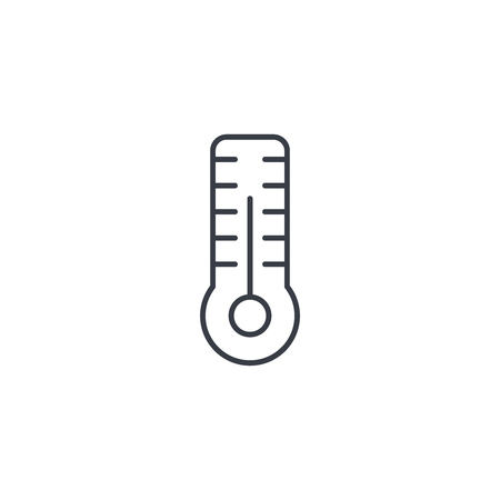 thermometer, weather thin line icon. Linear vector illustration. Pictogram isolated on white background