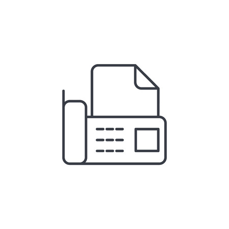 office telephone fax, digital phone, document thin line icon. Linear vector illustration. Pictogram isolated on white backgroundfogmoney