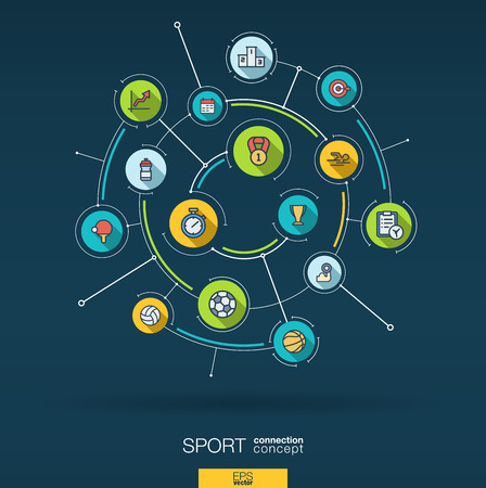 Abstract Sport and fitness background.