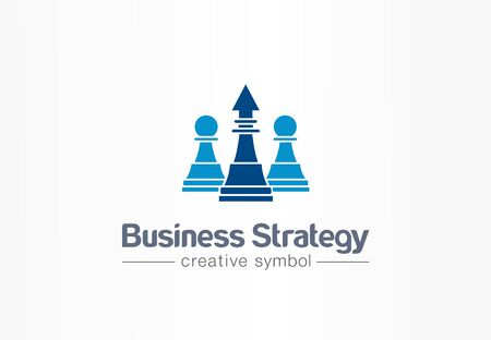 Strategy, chess and arrow up creative symbol concept. Finance success, leader abstract business logo idea. Increase, growth, progress icon. Corporate identity logotype, company graphic design tamplate