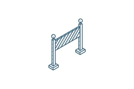 fence light construction isometric icon. 3d vector illustration. Isolated line art technical drawing. Editable stroke