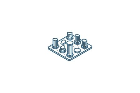 architecture History, ruins isometric icon. 3d vector illustration. Isolated line art technical drawing. Editable stroke Stock fotó - 149523759