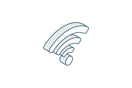 signal isometric icon. 3d vector illustration. Isolated line art technical drawing. Editable stroke