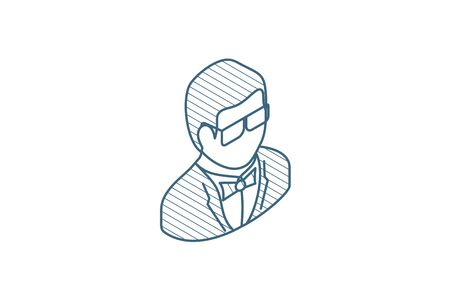 isometric icon. 3d vector illustration. Isolated line art technical drawing. Editable stroke Illustration