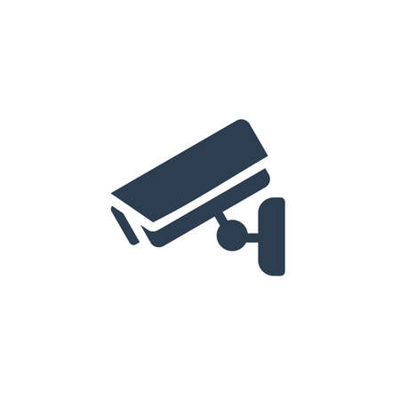 cctv, security digital camera, protection solid flat icon. Vector glyph illustration. Black pictogram isolated on white background 矢量图像