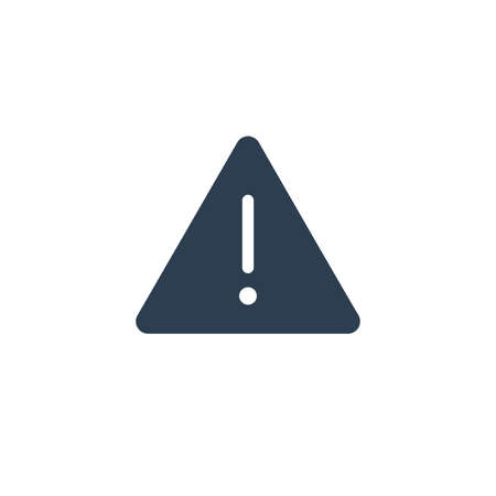 Hazard, warning, attention solid flat icon. Vector glyph illustration. Black pictogram isolated on white background 矢量图像