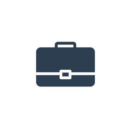 case, briefcase, career symbol, portfolio solid flat icon. vector illustration