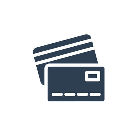 bank card solid flat icon. vector illustration