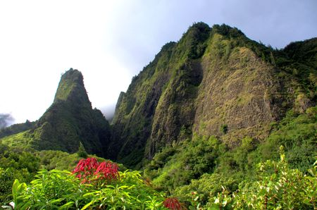 Iao Needle located on Tropical Maui Hawaii