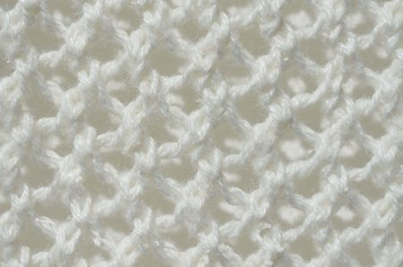 d cor: White knotted knitting Stock Photo