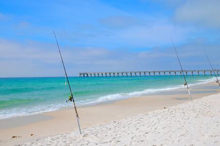 Fishing in the ocean, Panama City, FL, USA Banco de Imagens