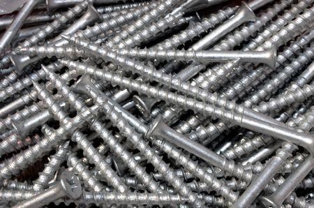 tornillos: Pila de tornillos de metal