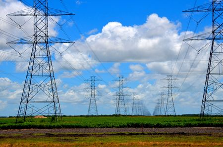 Electric power line towers