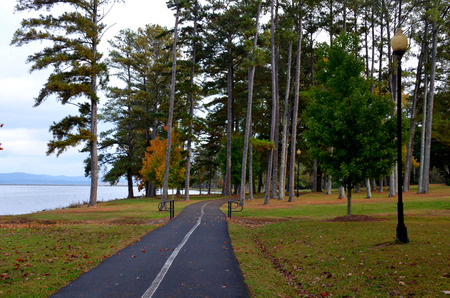 walking trail: Walking trail at Lake Guntersville, AL, USA Stock Photo