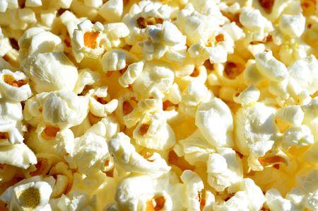 popped: Fresh homemade popped hot buttered popcorn