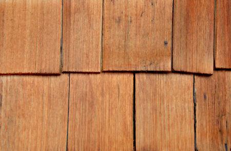 cedar shakes: Wood cedar shakes, shingles, siding, backdrop Stock Photo