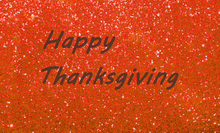 Glücklicher Danksagungsgruß auf Scheinhintergrund. Feiern Sie festliche Herbstferien. Standard-Bild - 89489177