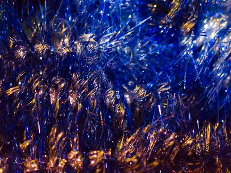 Schein, Glitter und Glanz des blauen Feiertagszusammenfassungshintergrundes oder -hintergrundes. Standard-Bild - 90081540