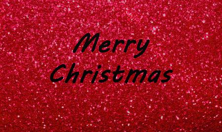 Gruß der frohen Weihnachten auf glänzendem hellem rotem Scheinhintergrund. Standard-Bild - 90089322