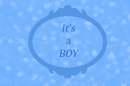 Baby boy announcement.  Birth announcement, baby shower, gender reveal or baptism.