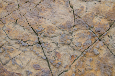 Rock with texture and cracks. Natural stone image, excellent rustic background.