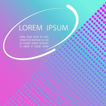 Bright background for flyer, web, magazine. Gradient turquoise lilac.