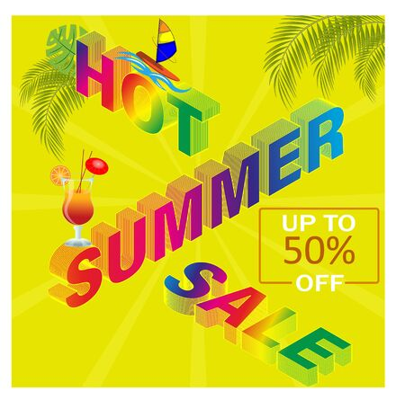 Abstract summer sale posters, banners. Design for selling posters or brochures, seasonal design.