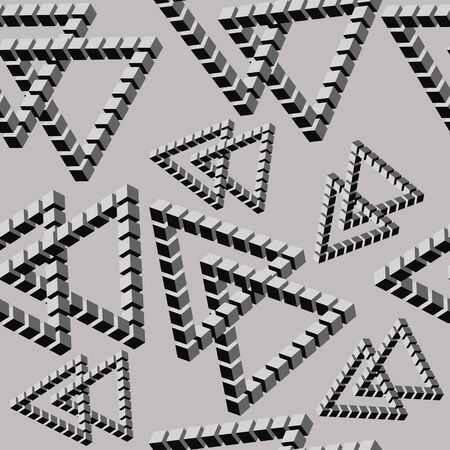 Seamless pattern, gray triangles, isometry Иллюстрация