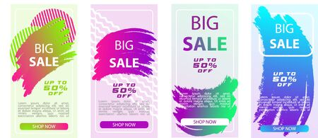 Sale banner design template for mobile phones, special offer Big sale