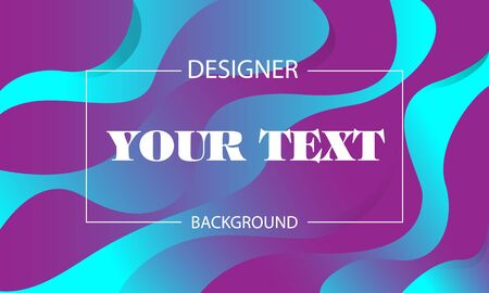 Multicolored wave Abstract geometric background with bright wave lines in futuristic style. Fashionable surround case with distortion of strips. A poster for web design.