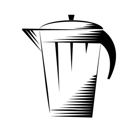 Coffee kettle icon for making brewed coffee