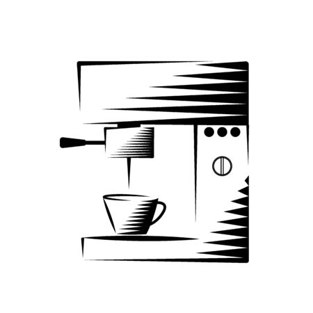 Coffee maker machine icon. Simple vector symbol icon