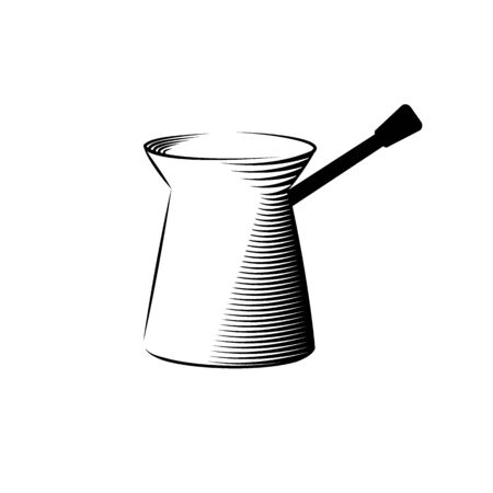 Coffee turk icon isolated on background for any web design Иллюстрация