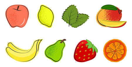 A set of fruits for a healthy diet