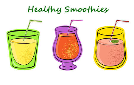A set of cocktails for a healthy diet