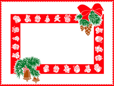 plaything: Christmas gift, frame with place for your text
