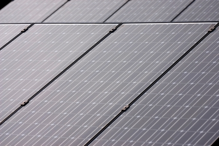 photovoltaic panel: Solar photovoltaic panel array