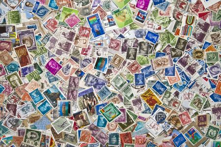 Collection of old stamps from a variety of countries
