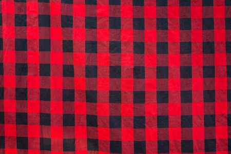 seamless Lumberjack plaid, tovaglia controllato modello in bianco e rosso