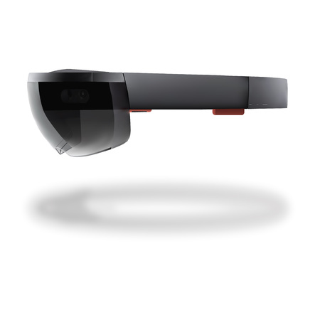Detailed transparent augmented reality glasses.