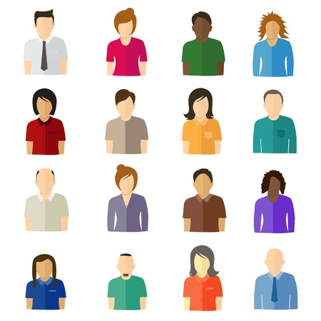 cabeza de mujer: Iconos de usuario plano minimalistas