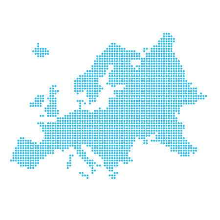 Map of Europe made of dots 版權商用圖片