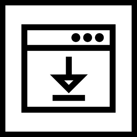 Modern  application icon in black and white