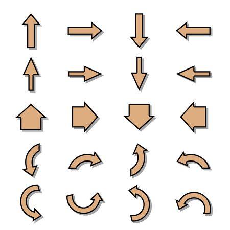 Bikablo - presentation scheme technique - Arrow set orange filling Illustration