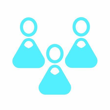 Modern user icon - Team of three white women