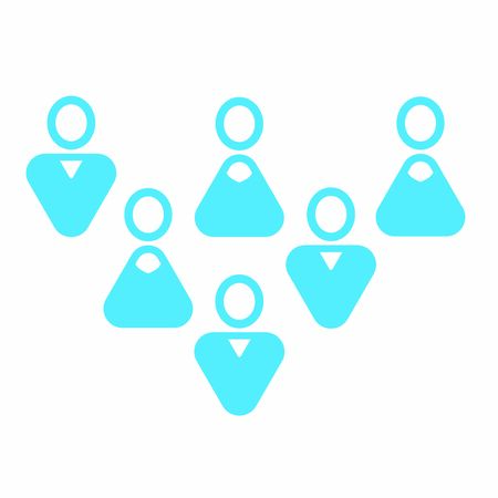 Modern user icon - Group of mixed white men and women Banque d'images