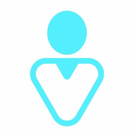 Modern user icon - Single colored man