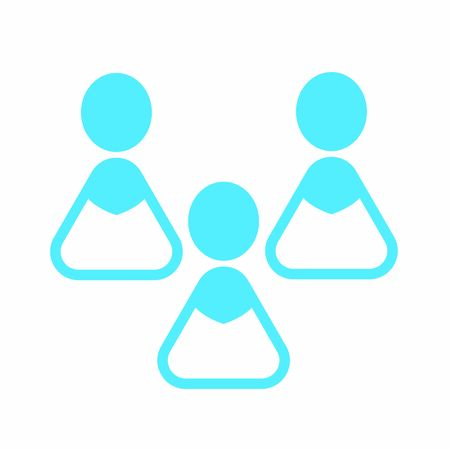 Modern user icon - 3 colored women Banque d'images